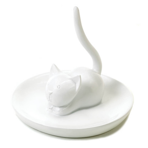 here kitty ring + jewelry holder