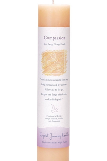 compassion - reiki energy charged candle