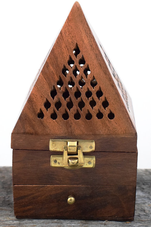 wood pyramid with drawer