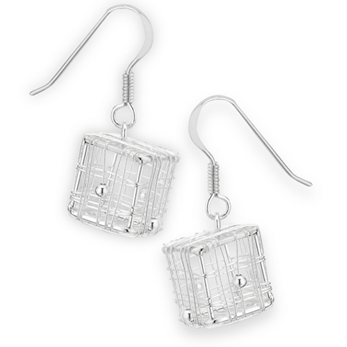 handmade series | wire cube dangles