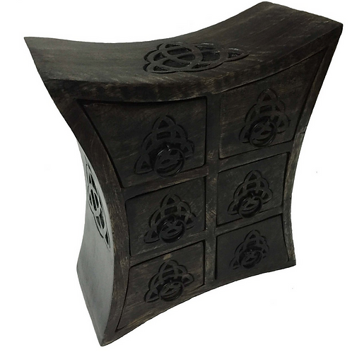 curvy apothecary chest