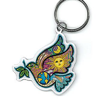 keyring | comic peace dove
