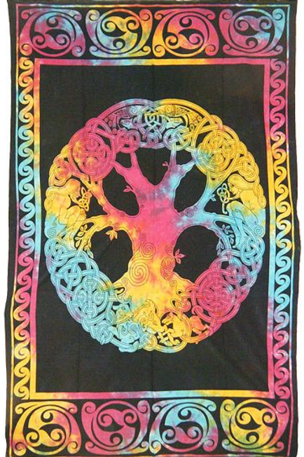 tye dye celtic tree of life