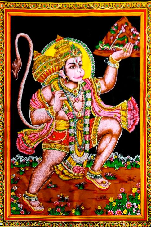 hanuman wall art
