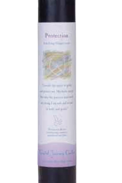 protection - reiki energy charged candle
