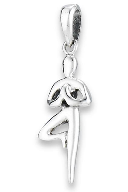 yoga series | tree prayer pose pendant