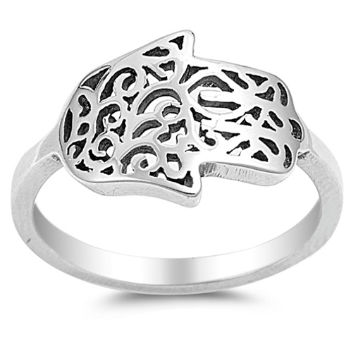 thick ornate hamsa ring
