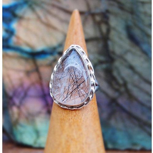 signature series | tourmalinated quartz ring