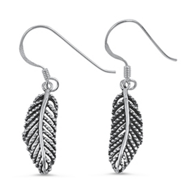 fauna series | granulated feather dangles