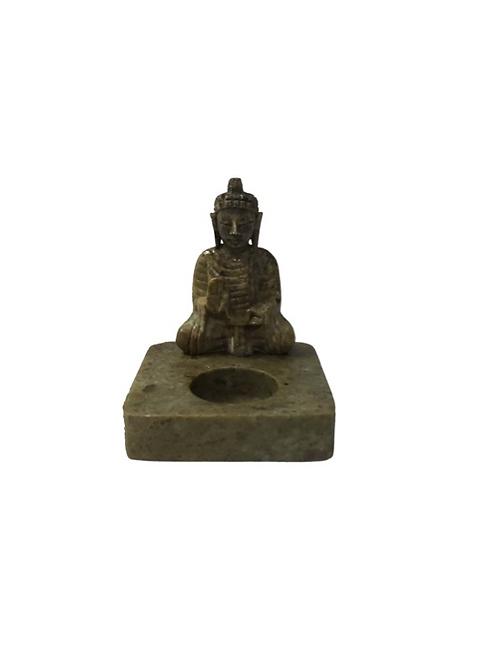 Buddha Candle Holder Soapstone