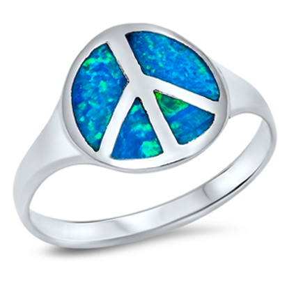 peace ring + opal