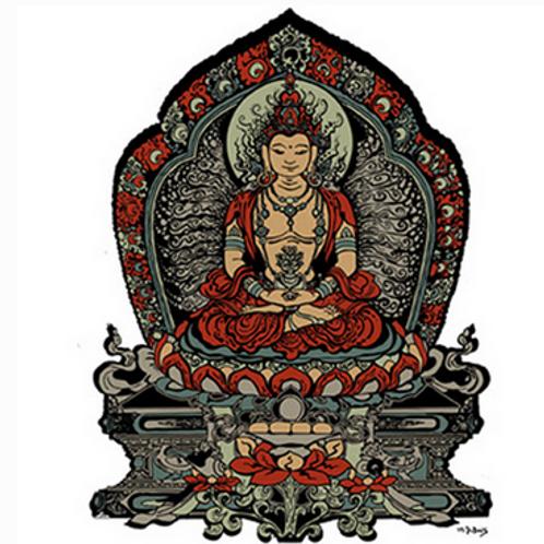 buddha | throne sticker