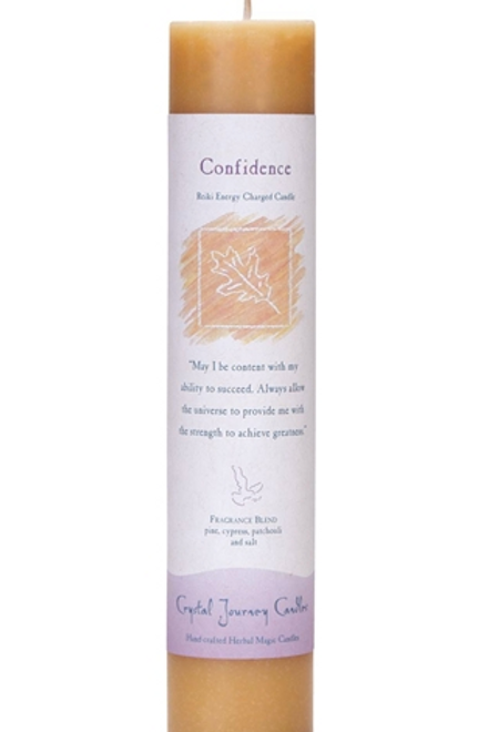 confidence - reiki energy charged candle
