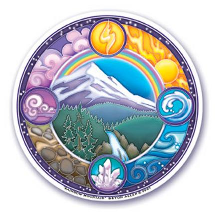 rainbow mountain sticker