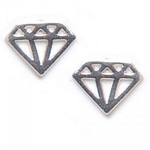 open cut diamond studs