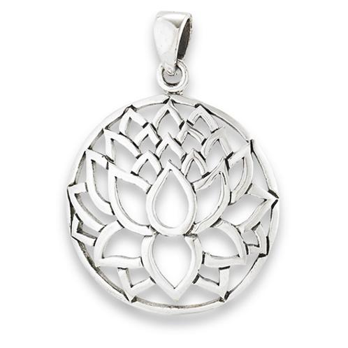 inspired series | open cut lotus pendant