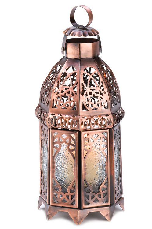 moroccan lantern | copper + glass
