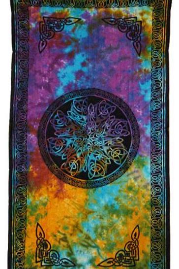 Celtic tye dye curtain panel