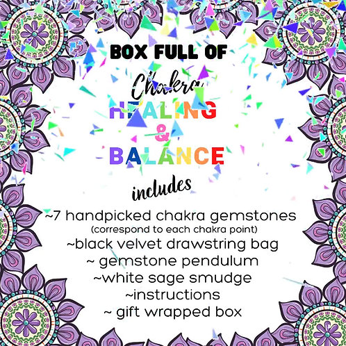 Box full of Chakra Healing & Balance!