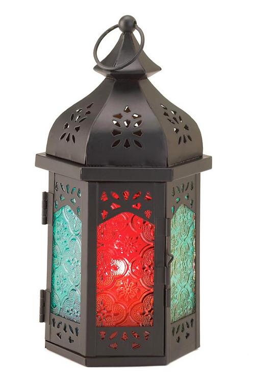 moroccan lantern | red blue turret dome