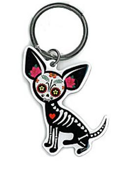 keyring | sugar skull pup