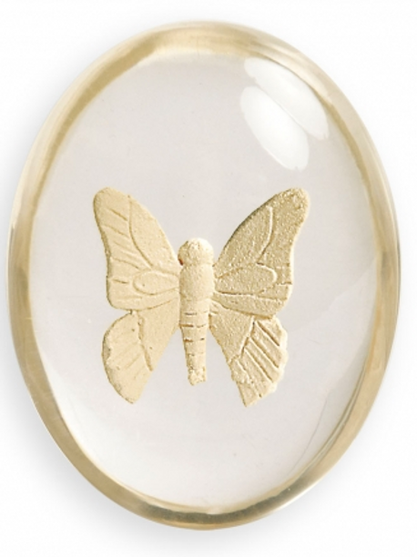worry stone - butterfly