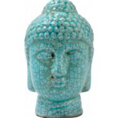 buddha   blue crackle