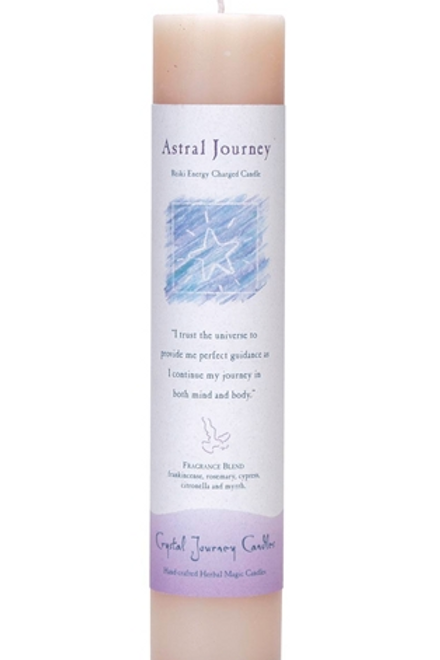 astral journey - reiki energy charged candle