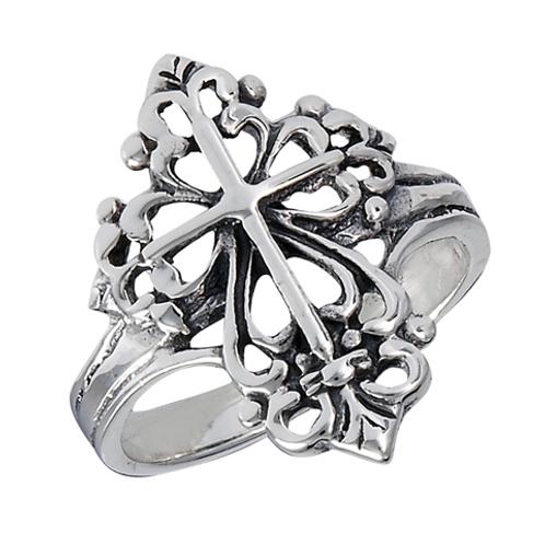 filagree cross ring