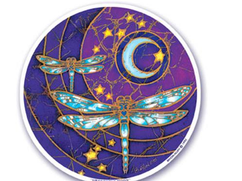 dragonflies | moon sticker