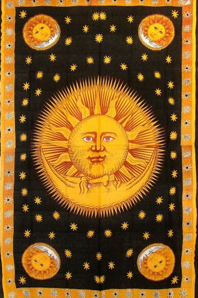 kissed by the sun tapestry