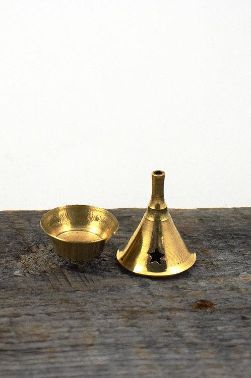 mini brass cone burner