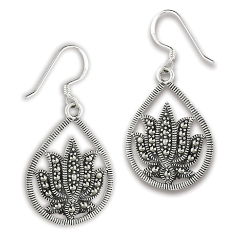 inspired series | marcasite lotus dangles