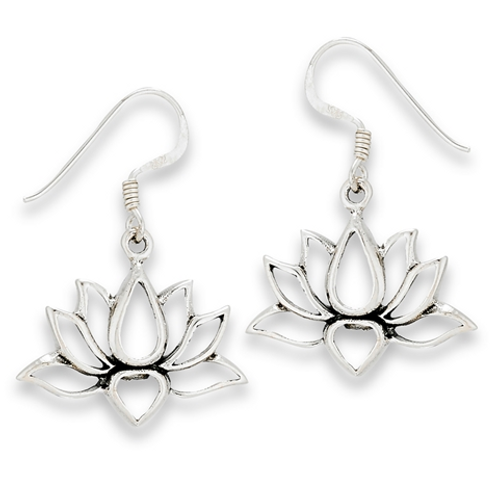 inspired series | open cut lotus dangles