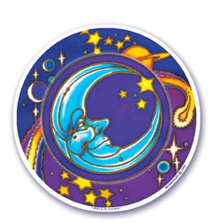 bella luna moon sticker