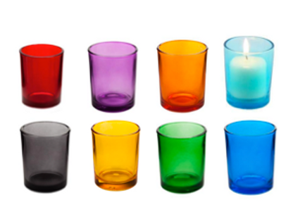Colored Glass Votive Cup