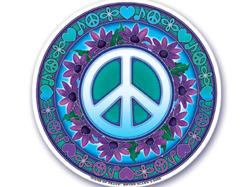 peace sign | flowers