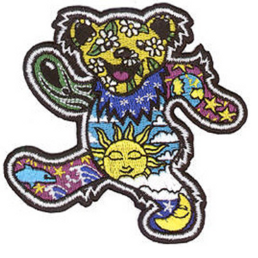 cosmic dancin' bear patch
