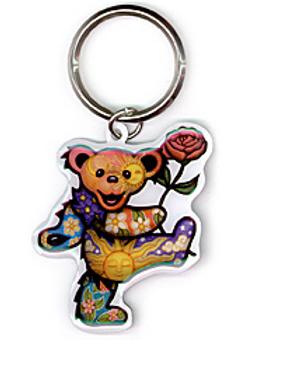 keyring | dancin' bear + rose