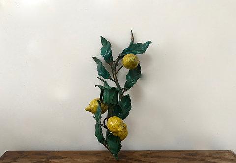 Single Lemon Toleware Sconce