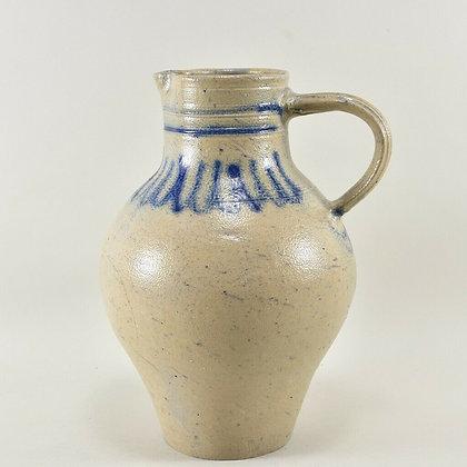 Salt Glaze Stone Jug, German.