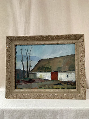 'Farm' Oil on Board, By Arnold Nolle Svensson