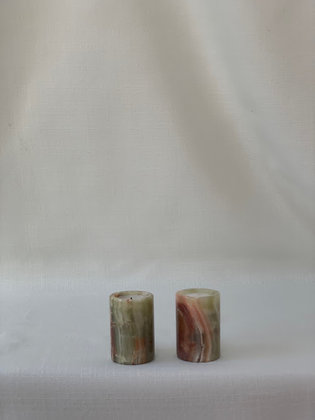 Pair of Onyx Candlestick - Tea Light
