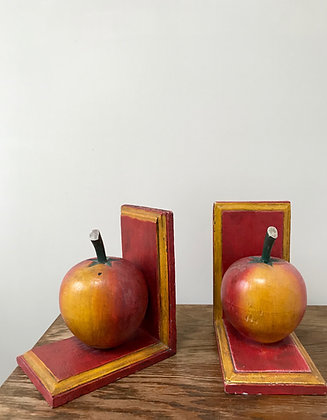 Folk art, hand painted bookends.