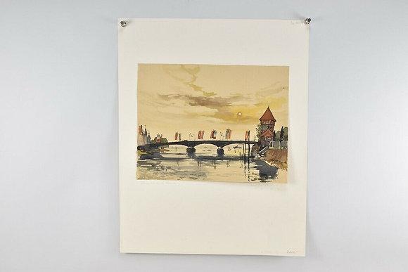 Bridge & Flags, by Norbert Gerd Hartmann