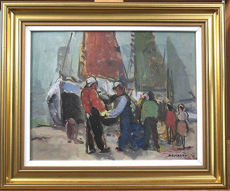 Framed Oil on Panel, signed Hamborn
