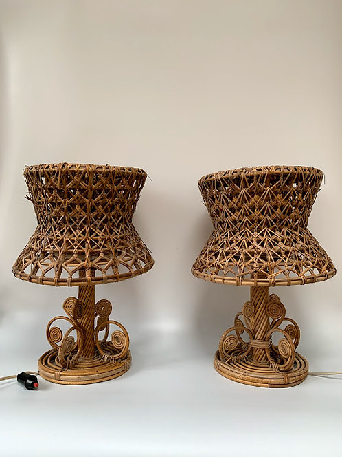 Pair of Handmade 1960s Lamps