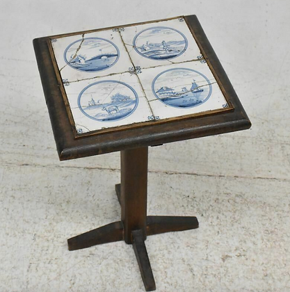 Early 19th Century Tiled Side Table