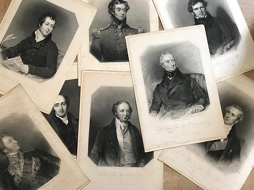 ANTIQUE ENGRAVINGS OF EMINENT MEN 1837