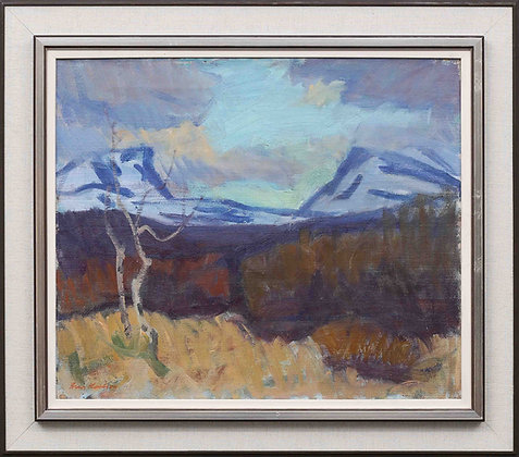 Framed Oil Painting, 'Lapporten', by Arvid Carlsson